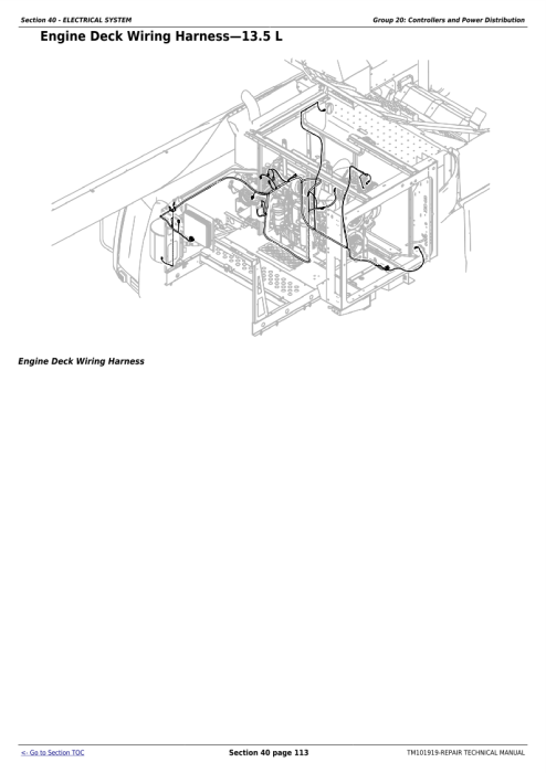 Second Additional product image for - Download John Deere 9570 STS, 9670 STS, 9770 STS and 9870 STS Combines Technical Service Repair Manual (TM101919)