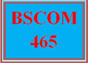 bscom 465 wk 1 - workplace conflict paper