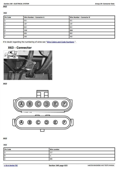 Second Additional product image for - Download John Deere 1450CWS, 1450WTS, 1550CWS, 1550WTS Combines (S.N.070001-) Diagnosis & Test Service Manual tm8235