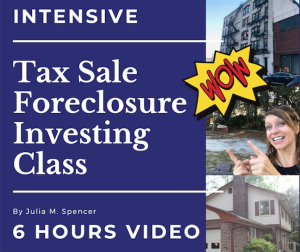 intensive tax sale foreclosure investing class
