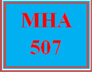 mha 507 week 3 assignment: report i