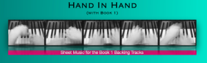 hand in hand (with book 1) : sheet music for the backing tracks