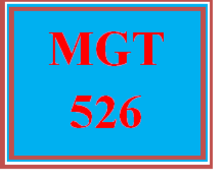 mgt 526 wk 1 discussion - management approach