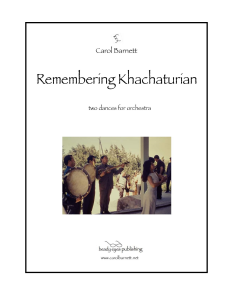 remembering khachaturian -score only