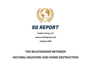sg report - the relationship between natural disasters and home destruction