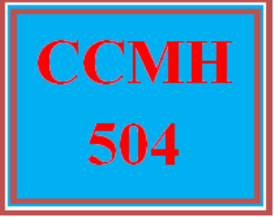 CCMH 504 All Discussions | eBooks | Education
