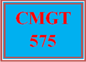 CMGT 575 All Discussions | eBooks | Education