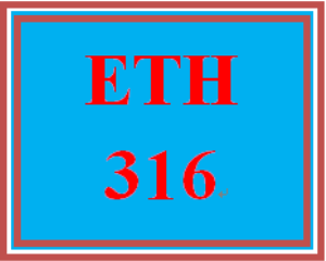 eth 316 wk 1 discussion - ethics vs moral reasoning