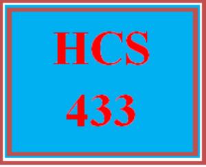 HCS 433 Wk 1 Discussion Board | eBooks | Education