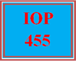 iop 455 wk 2 discussion