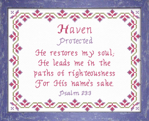 Name Blessings - Haven | Crafting | Cross-Stitch | Religious