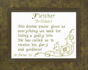 name blessings - fletcher