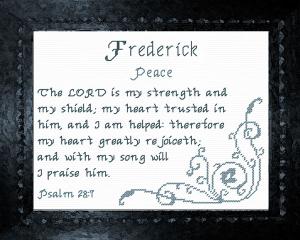 name blessings - frederick