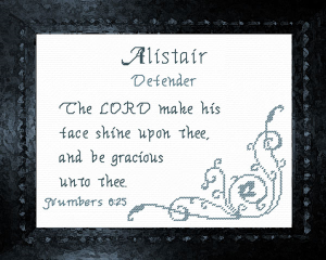 name blessings - alistair