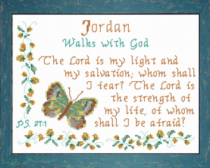 Name Blessings - Jordan 2 | Crafting | Cross-Stitch | Other