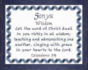 name blessings - sonya