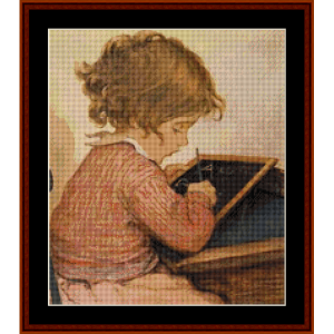 At School - Jesse Willcox Smith cross stitch pattern by Cross Stitch Collectibles | Crafting | Cross-Stitch | Other