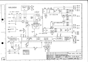 fanuc a16b-1210-0510 psu power supply (full schematic circuit diagram)