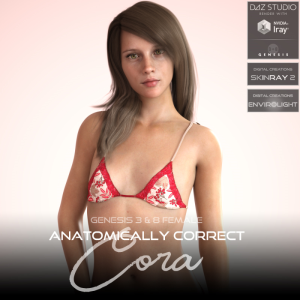 Anatomically Correct: Cora for Genesis 3 and Genesis 8 Female | Software | Design