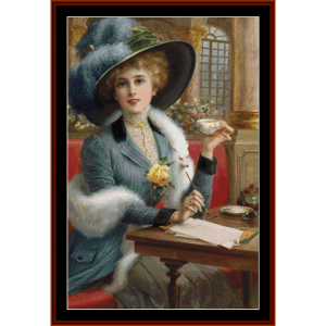 Elegant Lady – Emile Vernon cross stitch pattern by Cross Stitch Collectibles | Crafting | Cross-Stitch | Other