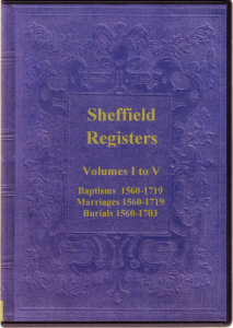 transcripts of the parish registers of sheffield, yorkshire.