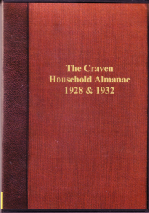 the craven district household almanac 1928 & 1932