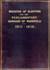 wakefield register of electors 1911-1919