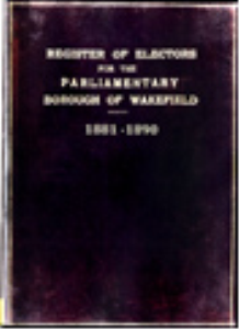 register of electors 1881 to 1890 wakefield