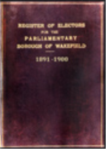 register of electors 1891 to 1900 wakefield