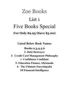 list 1- five books special / zoe books / books 2,3,4,5,6