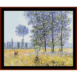 Under the Poplars - Monet cross stitch pattern by Cross Stitch Collectibles | Crafting | Cross-Stitch | Other
