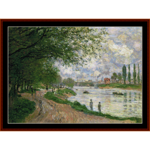 The Island of La Grand Jatte - Monet cross stitch pattern by Cross Stitch Collectibles | Crafting | Cross-Stitch | Other