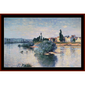 The Seine at Lavacourt - Monet cross stitch pattern by Cross Stitch Collectibles | Crafting | Cross-Stitch | Other