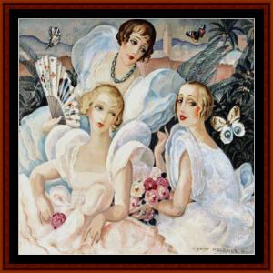 les femmes fatales – gerda wegener cross stitch pattern by cross stitch collectibles