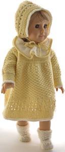 DollKnittingPatterns 0214D Lilja - Robe, panty, chaussons et bonnet-(Francais) | Crafting | Knitting | Other