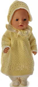 dollknittingpatterns 0214d lilja - jurk, broek, muts en schoentjes-(nederlands)