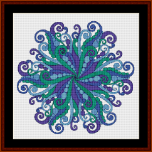 Mandala 63 (Small) cross stitch pattern by Cross Stitch Collectibles | Crafting | Cross-Stitch | Other