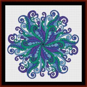 Mandala 63 (Large) cross stitch pattern by Cross Stitch Collectibles | Crafting | Cross-Stitch | Other