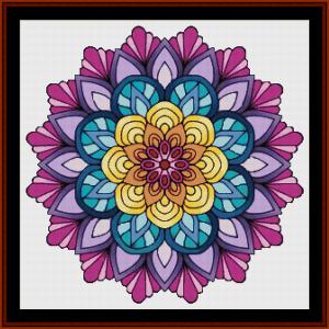 mandala 64 (large) cross stitch pattern by cross stitch collectibles