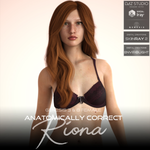 Anatomically Correct: Riona for Genesis 3 and Genesis 8 Female | Software | Design