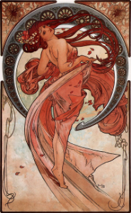 art nouveau goddess and nature art
