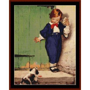 a boy and his dog – jesse willcox smith cross stitch pattern by cross stitch collectibles