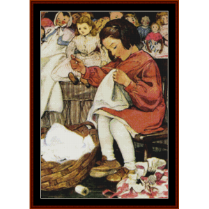 afternoon chores – jesse willcox smith cross stitch pattern by cross stitch collectibles