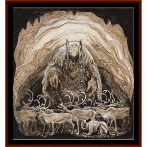 the troll cave – john bauer cross stitch pattern by cross stitch collectibles