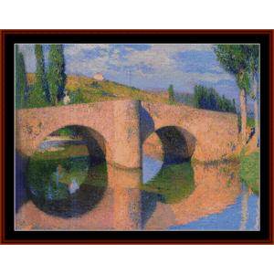 Bridge at Labastide II – Henri Martin cross stitch pattern by Cross Stitch Collectibles | Crafting | Cross-Stitch | Other