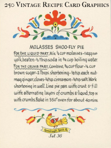 250 vintage recipe card graphics