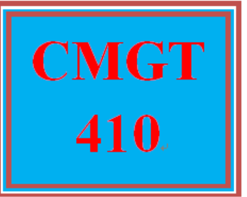 First Additional product image for - CMGT 410 Wk 5 - Apply: Signature Assignment: Measuring Progress and Requirements