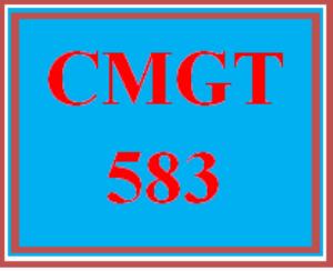 CMGT 583 Wk 3 - Measurable Values | eBooks | Education