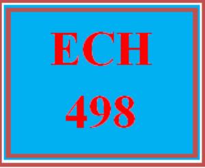 ECH 498 Wk 4 - Employment Portfolio | eBooks | Education