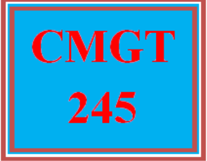 CMGT 245 All Discussions   eBooks   Education